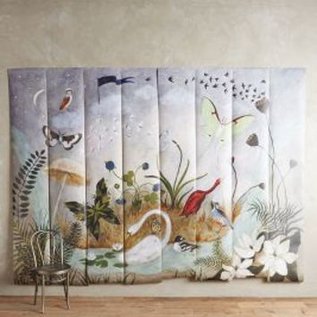 Rebecca rebouche nightfall on the moor from anthropologie for Anthropologie wallpaper mural
