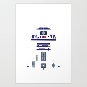 Star Wars - R2D2 Art Print by TracingHorses