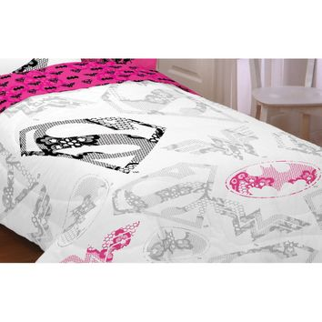 Justice League Girl Twin-Full Comforter Awesome Power Bed