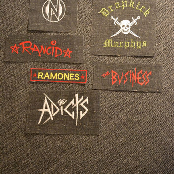 Rancid, Conflict, Adicts, Ramones, Business, Dropkick Murphys patches