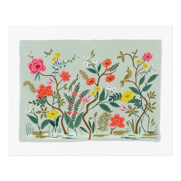 Shanghai Garden Art Print by RIFLE PAPER Co.   Made in USA