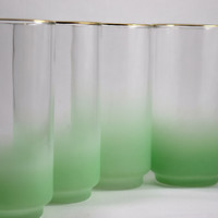 Libbey Satin/Frosted Glass (Tall Green)