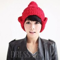 Earflap with Ball Knitted Hat