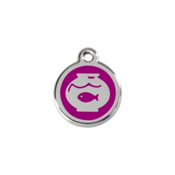 Red Dingo Stainless Steel Fish In A Bowl Cat ID Tag