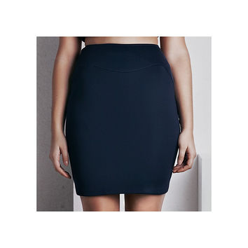 'Rhea' Pencil Skirt - French Navy