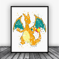 Charizard Pokemon Go Art Print Poster 3