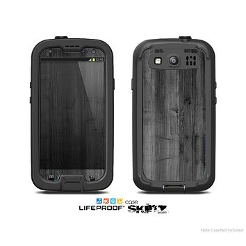 The Dark Black WoodGrain Skin For The Samsung Galaxy S3 LifeProof Case