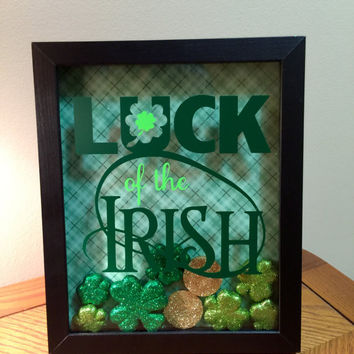Luck of the Irish St Patrick's Day Shadow Box Art