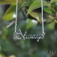 Harry Potter Always Deathly Hallows Pendant Necklace Perfect Gift