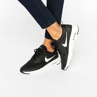Nike Air Max Thea Trainers In Black And White at asos.com