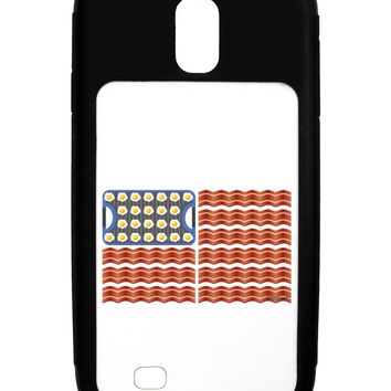 American Breakfast Flag - Bacon and Eggs Galaxy S4 Case  by TooLoud