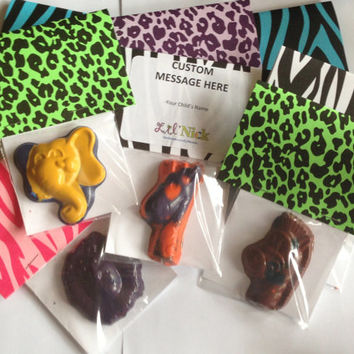 Animal Party Favors - Safari Party Favors - Animal crayons - Zoo Party favors, Circus Party favors -  FREE Custom Label