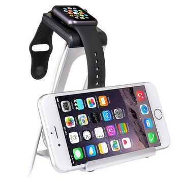 DCK4S2 SPARIN Apple Watch Series 3 / 2 Stand, Aluminum Changer Stand Dock Holder with Premium Stylus Pen for All Apple Watch Models and iPhone, Silver