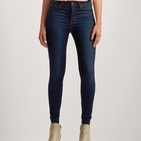 Seriously Stretchy Dark Wash High-Waisted Jegging