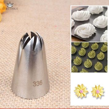 LIMITOOLS #336 Large Size Icing Piping Nozzles Steel Cake Cream Decoration Head Bakery Pastry Tips Baking Tools