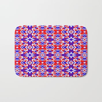 Red, White and Blue Crosses 243 Bath Mat by Celeste Sheffey of Khoncepts