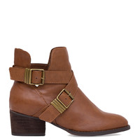 Clementine Ankle Boots in Tan