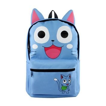 Fairy Tail Happy Cat Anime Backpack