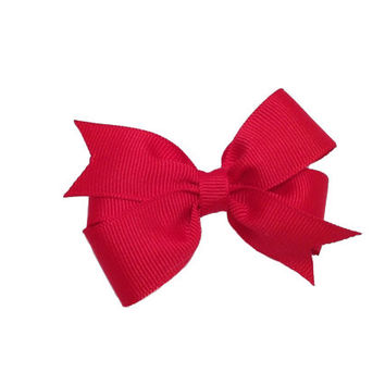 Red hair bow - red bow, small bow, 3 inch red bow