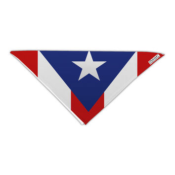 "Puerto Rico Flag AOP Adult 19"" Square Bandana All Over Print"