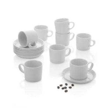 Verge Espresso Cups and Saucers (Set of 8)