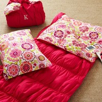 Ruched Sleeping Bag + Pillowcase - Pink Magenta