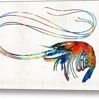 Colorful Shrimp Art By Sharon Cummings Acrylic Print