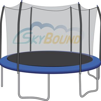 SkyBound 15 Foot Trampoline Net - Fits 15 Foot Frames with 6 Straight-Curved Enclosure Poles