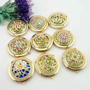 1PC+Fast Shipping Women Girls Pocket Chic Retro Vintage Style Butterfly Makeup Cosmetic Compact Mirror Styling Tools