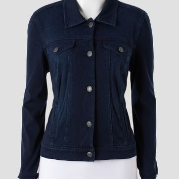 Nine West - Vintage America Collection Solid Knit Denim Jacket - Women | Stein Mart