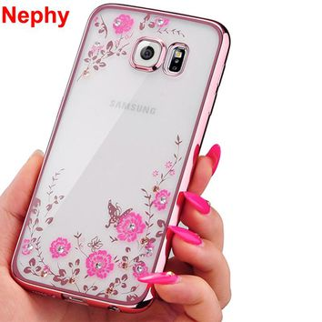 Case For Samsung Galaxy S3 S4 S5 S6 S7 edge S8 Plus S 3 4 5 6 7 8 Duos Neo Cell Phone Cover Silicone Ultra thin Crystal Glitter