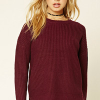 Ribbed Dropped-Sleeve Sweater