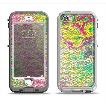 The Vibrant Yellow Colored Dots Apple iPhone 5-5s LifeProof Nuud Case Skin Set