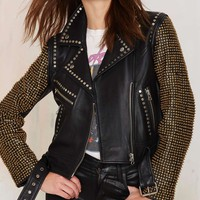 Nasty Gal Bead The Odds Leather Jacket