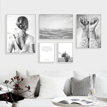 Nordic Canvas Poster Abstract Frameless Wall Art Canvas Painting Cuadros Home Decoration Posters And Prints Canvas Pictures For