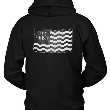 LMF1GW Macklemore And Ryan Lewis The Heist Flag Black And White Hoodie Two Sided
