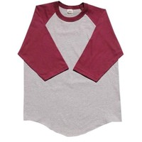 New 3/4 Sleeve S-2XL Plain BaseBall T-Shirts Raglan Jersey Tee New Men's Women's