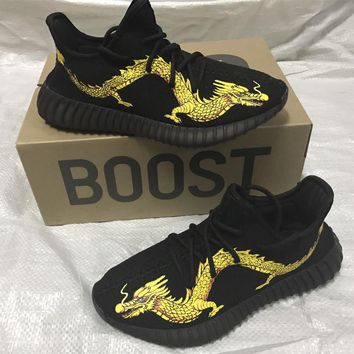 Adidas Yeezy 350 Boost Golden Dragon Sneakers Running Sports Shoes
