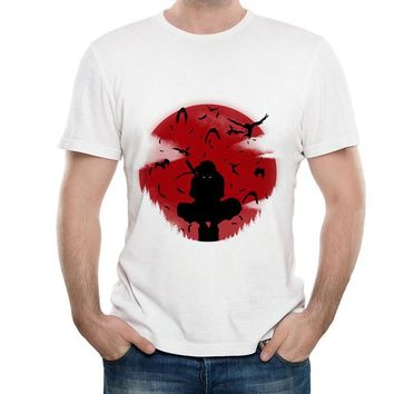 Anime T-shirt graphics Naruto Sharingan T shirt 2018 New Japanese Anime Tshirt White Color Summer Short Sleeve Modal T-shirt for Men Brand PSTYLE AT_56_4