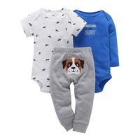 Cute Puppy 3pc Baby set
