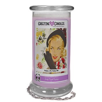 Happy Wife, Happy Life! | Jewelry Greeting Candles