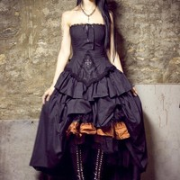 Steampunk Wedding Dress Vampire Gothic Lolita by KMKDesignsllc