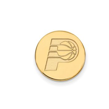 NBA 14k Yellow Gold Plated Silver Indiana Pacers Lapel Pin