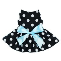 Fitwarm® Cute Polka Dot Ribbon Dog Dress Dog Clothes Cozy Dog Shirt Pet Dress, Medium