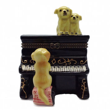 Jewelry Boxes Dog Playing Piano