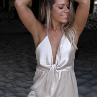Griffith Park Ivory Open Back Mini Dress