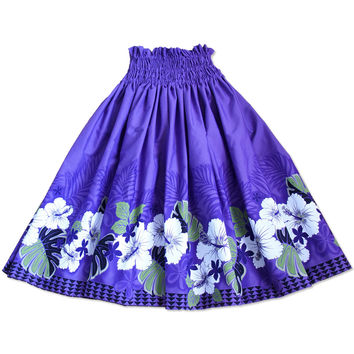 kauai purple single hawaiian pa'u hula skirt
