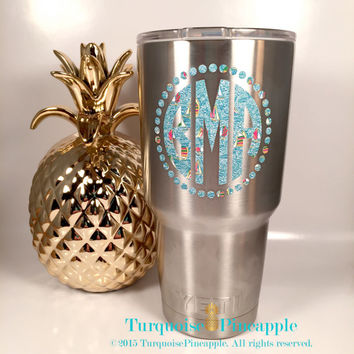 Yeti decal monogram decal yeti rambler yeti monogram yeti personalized custo