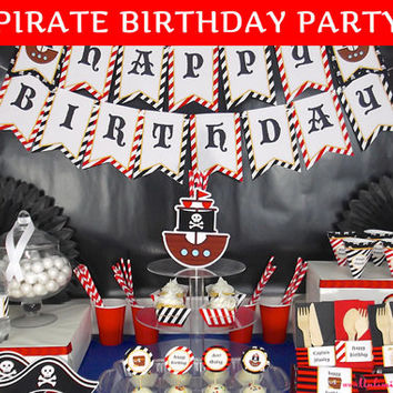 Pirate Birthday Party Decoration / Pirate Party / Party In A Box