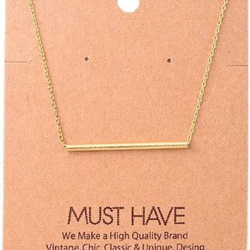 Must Have-Single Bar Necklace, Gold